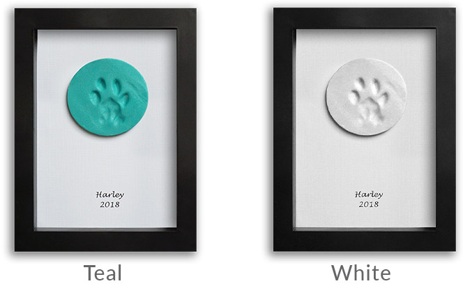 Available clay paw color options